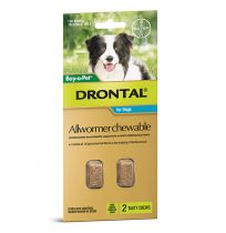 Drontal Allwormer Chewables for Medium Dogs 10kg 2 Tablets