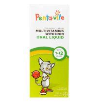 Penta-Vite Multivitamin with Iron Oral Liquid 200ml