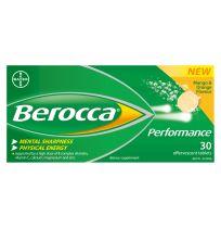 Berocca Performance Mango & Orange Effervescent Tablets 30 Pack