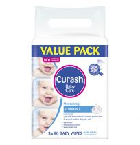 Curash Baby Wipes Soap Free Value Pack 3 x 80 Pack