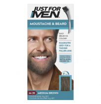 Just For Men Moustache & Beard Brush-In Colour Gel Medium Brown
