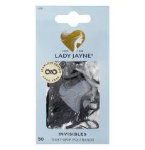 Lady Jayne 2268 Snagless Elastics Black 50 Pack