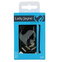 Lady Jayne 2278 Elastic Black 24 Pack