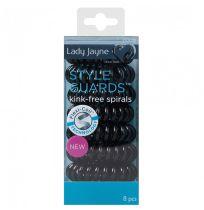 Lady Jayne 17022 Style Guards Black Elast 8 Pack
