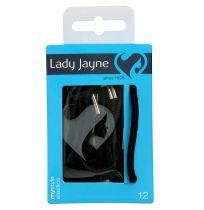 Lady Jayne 2279 Thick Elastics Black 12 Pack