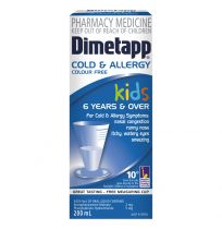 Dimetapp Kids Cold & Allergy Colour Free 6 Years + 200ml