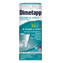 Dimetapp Kids Cough & Cold Colour Free 6 Years + 200ml