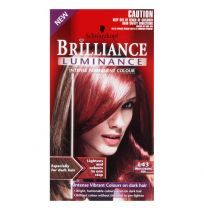Schwarzkopf Brilliance Luminance Permanent Hair Colour L43 Smouldering Red