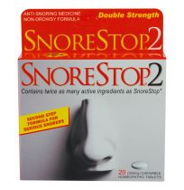 SnoreStop 2 Double Strength 20 Chewable Tablets