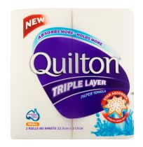 Quilton Paper Towel Triple Layer 2 Pack
