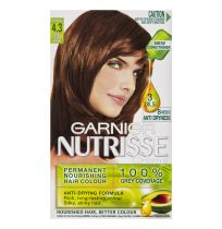 Garnier Nutrisse Hair Colour 4.3 Cappuccino Dark Golden Brown