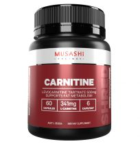 Musashi Carnitine 500mg 60 Capsules