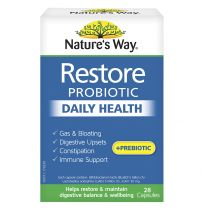 Nature's Way Restore Probiotic Daily Health 28 Capsules