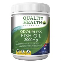 Quality Health Odourless Fish Oil 2000mg 200 Capsules