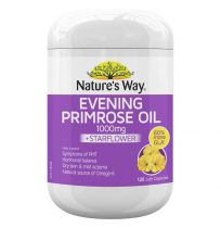 Nature's Way Evening Primrose Oil 1000mg + Starflower Oil 125 Capsules