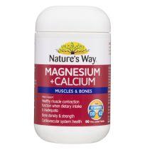 Nature's Way Magnesium + Calcium 90 Tablets