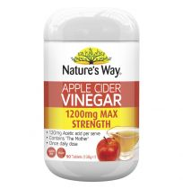Nature's Way Apple Cider Vinegar 1200mg Max Strength 90 Tablets