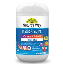 Nature's Way Kids Smart Chewable Omega 3 Fish Oil Trio 60 Pack