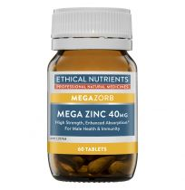 Ethical Nutrients MegaZorb Zinc 40mg 60 Tablets