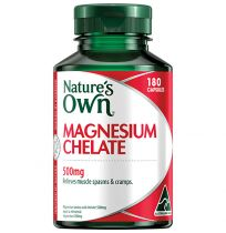Nature's Own Magnesium Chelate 500mg 180 Capsules