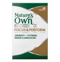 Nature's Own Focus and Perform 40 Tablets