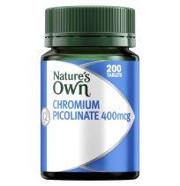 Nature's Own Chromium Picolinate 400mcg 200 Tablets
