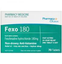 Pharmacy Choice Fexofenadine 180mg 70 Tablets