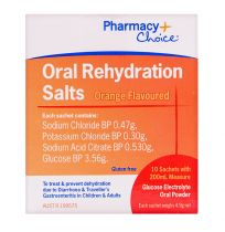 Pharmacy Choice Oral Rehydration Sachets 10 Pack