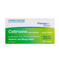 Pharmacy Choice Cetirizine Hayfever Relief 100 Tablets