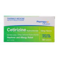 Pharmacy Choice Cetirizine Hayfever Relief 50 Tablets