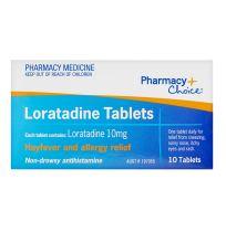 Pharmacy Choice Loratadine 10 Tablets