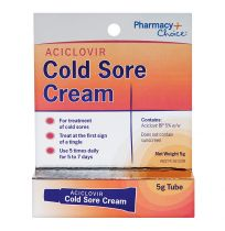 Pharmacy Choice Aciclovir Cold Sore Cream 5g