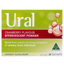 Ural Cranberry Effervescent Powder 28 Sachets