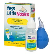 Fess Little Noses Saline Drops 25ml + Aspirator