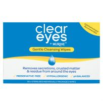 Murine Clear Eyes Gentle Cleansing Wipes 30 Pack
