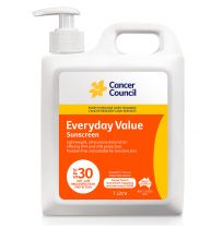 Cancer Council Sunscreen Everyday SPF 30+ Pump 1 Litre