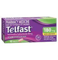 Telfast Hayfever Allergy Relief 180mg 10 Tablets