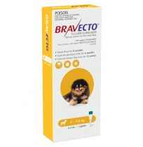 Bravecto Spot-On Very Small 2 - 4.5kg Dog Flea & Tick Yellow 1 Pack