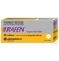 Rafen Ibuprofen 200mg 50 Tablets