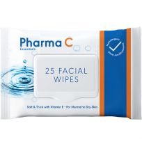 Pharma C Essentials Face Wipes Nourishing Vitamin E 25 Pack