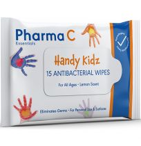 Pharma C Essentials Kidz Antibacterial Wipes 15 Pack