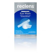 Reclens Eye Wash 15ml Ampoules with Eye Baths 10 Pack