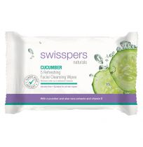 Swisspers Naturals Cucumber Facial Wipes 5 Pack