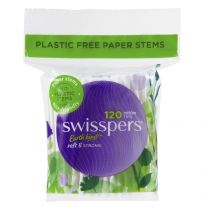Swisspers Cotton Tips Paper Stems 120 Pack