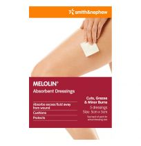 Melolin 5cm X 5cm 5 Pack