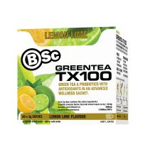 BSC Body Science Green Tea TX100 Lemon Lime 60 Stick Packs