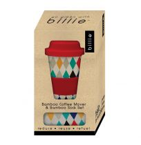 Go Green with Billie Bamboo Coffee Mover And Socks Gift Set