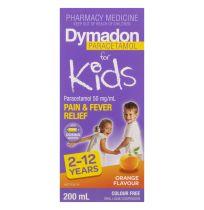 Dymadon Kids Paracetamol 2 - 12 Years Orange 200ml