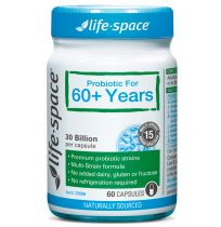 Life Space Probiotic 30 Billion For 60+ Years 60 Capsules