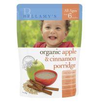 Bellamy's Organic Apple & Cinnamon Porridge 125g